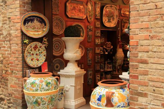 A pottery shop in San Gimignano, Italy