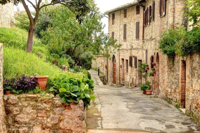 A beautiful Tuscan village in Italy - San Gimignano