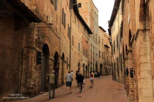 Medieval buildings in the Old Town of San GImignano, Italy