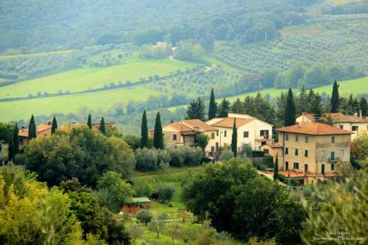 Looking over the countryside from Rocca in San Gimignano, Italy