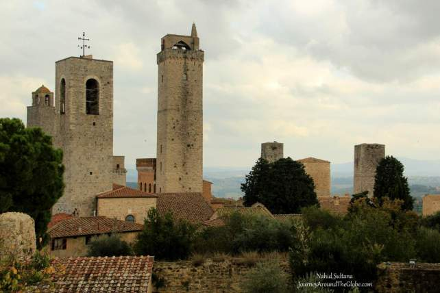 Some of the original 72 towers of San Gimignano in Italy