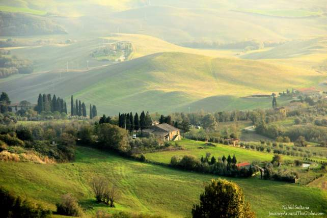 Looking over the countryside from Volterra, right before entering the Old Town