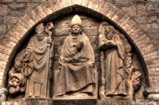 A portion of the main facade of Santa Maria Assunta in Volterra, Italy