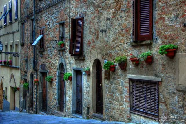 This is not a picture of Piazza dei Priori, but of a street very close to the piazza...in Volterra, Italy