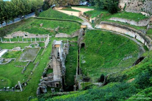 Ancient ruins of Roman Theater in Volterra, Italy
