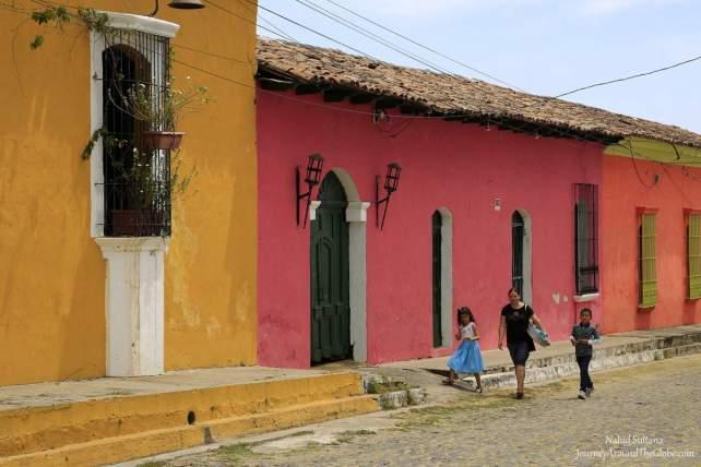 Colonial town Suchitoto in El Salvador