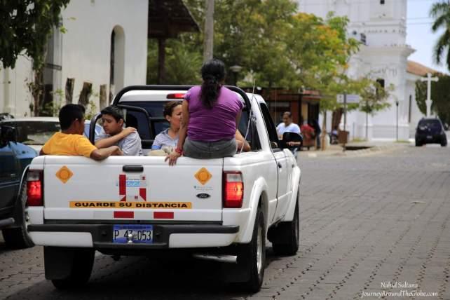 Cool summer ride in Suchitlan, El Salvador
