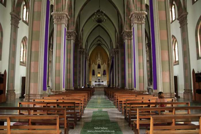 Inside Santa Ana Cathedral in Santa Ana, El Salvador
