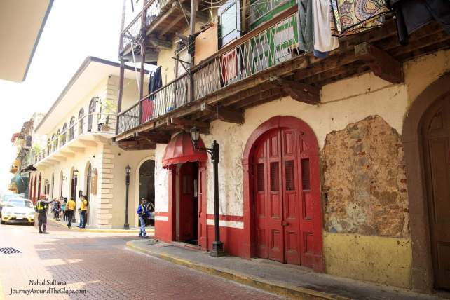Old colonial style buildings in Casco Viejo, Panama City