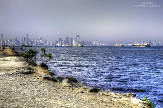 Looking at Panama City from Amador Causeway