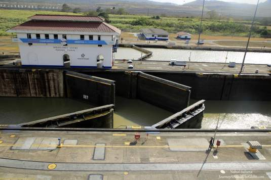 From the balcony of Miraflores Lock, Panama Canal