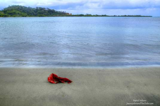 Playa la Angosta beach by the Caribbean coast near Portobelo, Panama