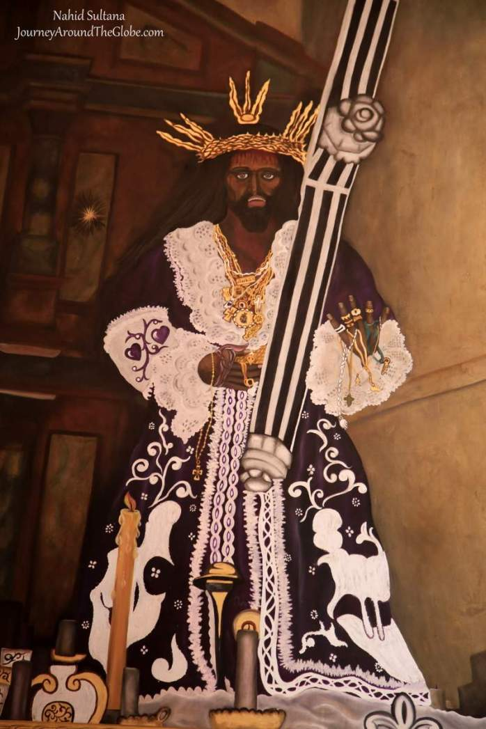 Black Christ inside Iglesia de San Felilpe in Portobelo, Panama