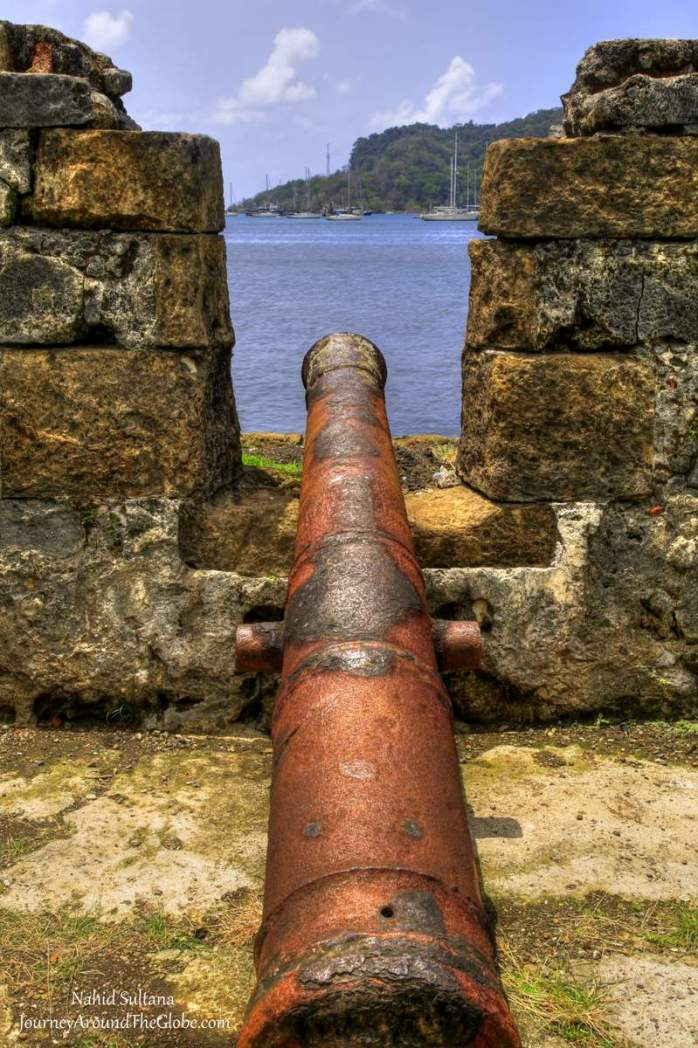 Forte San Jeronimo from the 1700s in Portobelo, Panama