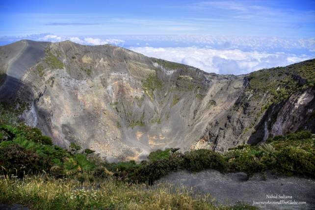 The Main Crater of Irazu Volcano National Park in Costa Rica