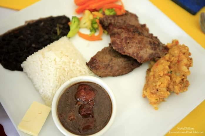 Our traditional lunch in La Casona del Cafetal in Orosi Valley, Costa Rica