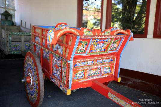 An old ox-cart in DOKO Coffee Plantation in Costa Rica