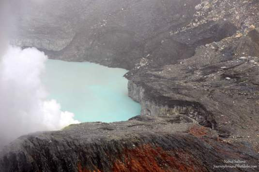 The Main Crater of Poas Volcano National Park in Costa Rica