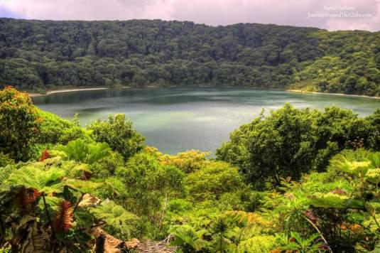 Botos Lagoon in Poas Volcano National Park in Costa Rica