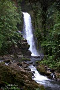 One of the falls of La Paz Waterfalls Garden in Costa Rica