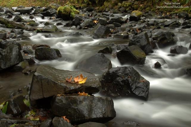 Bridal Veil Creek in an autumn morning of October, 2015