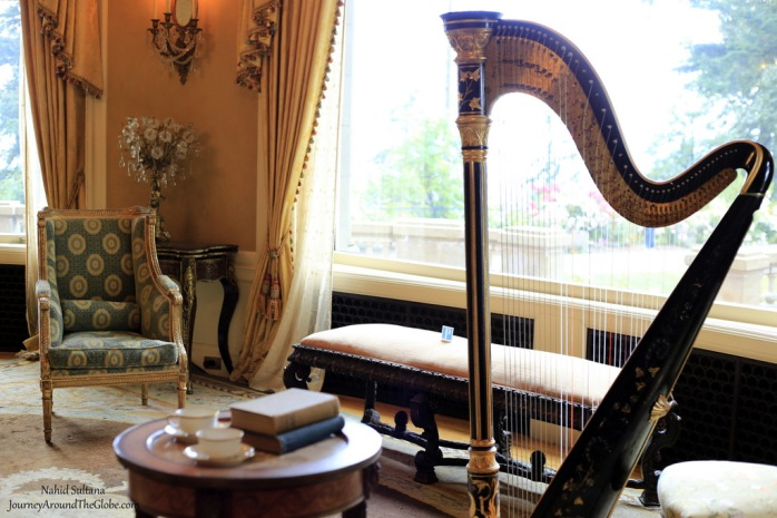 Some original decors and furniture inside Pittock Mansion in Portland, Oregon