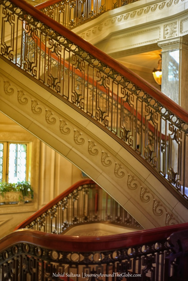 Elegant interior of Pittock Mansion in Portland, Oregon