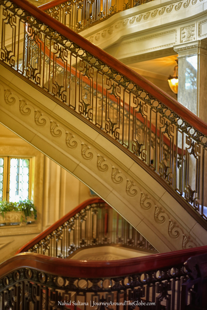Elegant interior of Pittock Mansion in Portland, Oregon