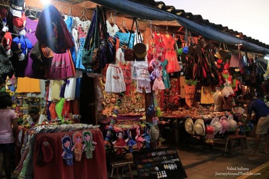Some souvenir stores in Puerto Salvador Allende in Managua, Nicaragua