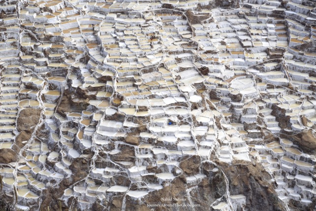 Salt pans of MARAS SALINERAS in Peru
