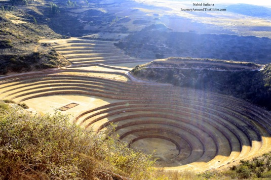 MORAY TERRACE in Peru, sits in the Sacred Valley of the Incas about 3500 meters above sea-level