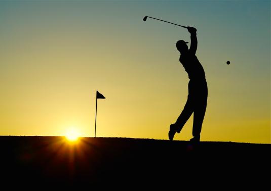 golf-sunset-sport-golfer