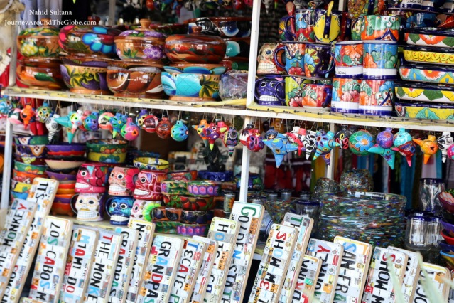 Colorful souvenirs of Los Cabos in Mexico