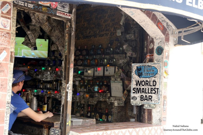 World's Small Bar in Downtown Cabo San Lucas, Mexico