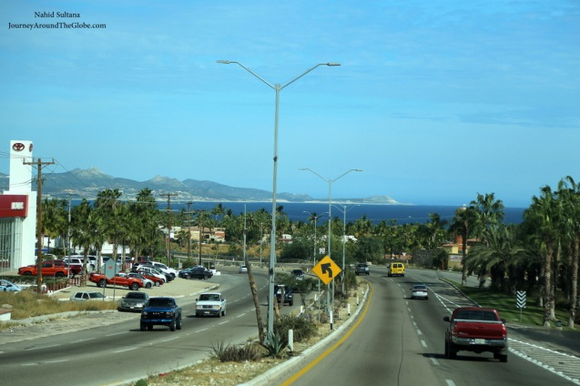 On our way to San Jose del Cabo on The Corridor in Cabo, Mexico