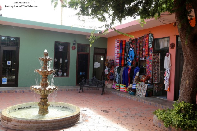A tiny and colorful square in San Jose del Cabo, Mexico