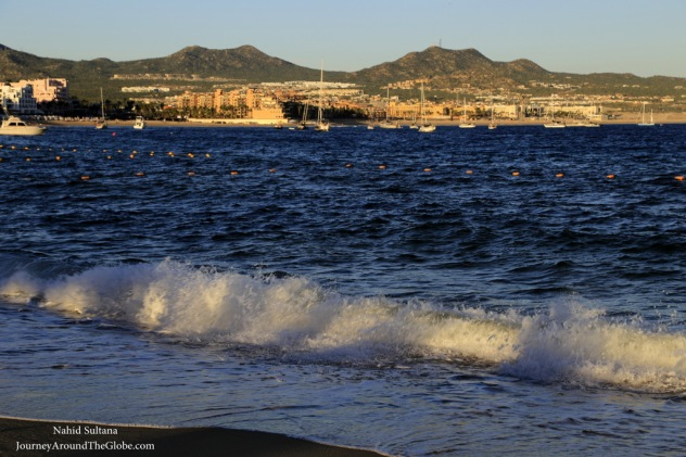 A late afternoon by the Medano Beach in Cabo, Mexico