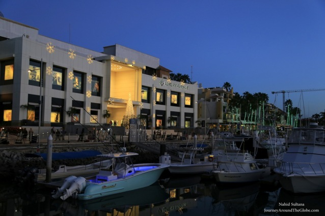 Cabo Marina in the evening in Mexico