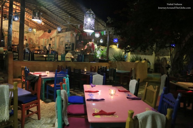 A very popular restaurant Mi Casa in Cabo San Lucas, Mexico