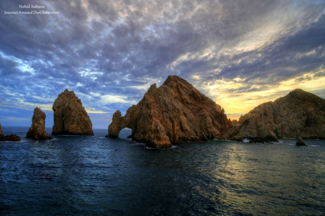 Iconic El Arco or The Arch of Cabo from Sunset cruise in Cabo, Mexico