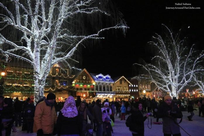 Christmas lighting in Leavenworth, WA