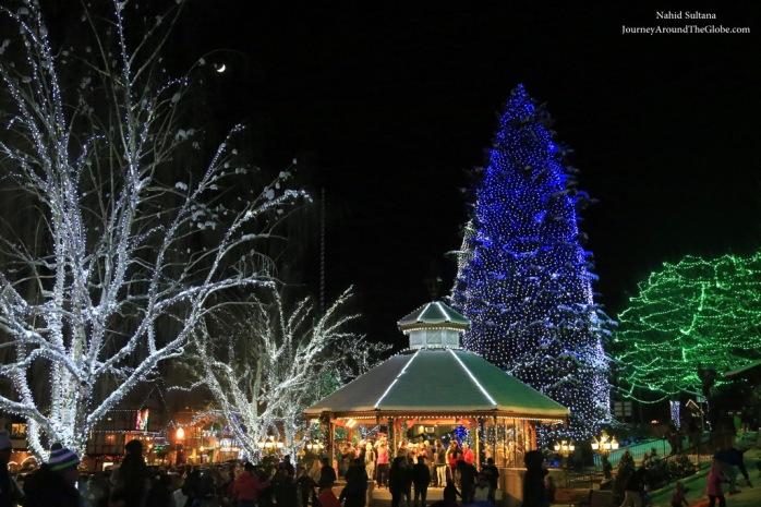 Christmas lighting in Downtown Leavenworth, WA