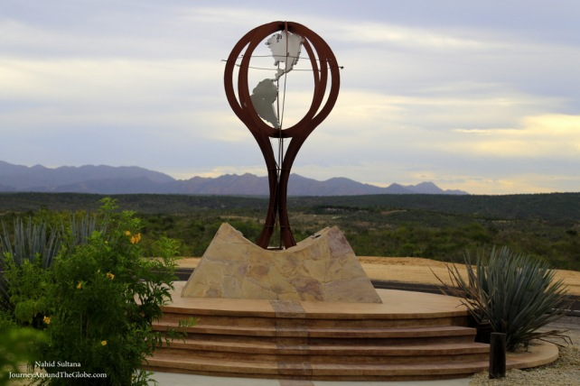 Monument for Tropic of Cancer near Cabo, Mexico