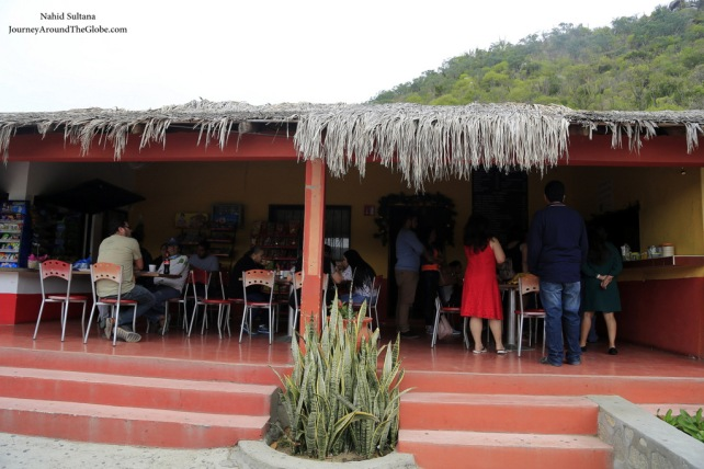 Our breakfast place on our way to La Paz, Mexico