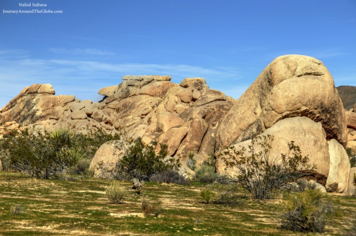 Jumbo Rock Campground in Joshua Tree National Park, California