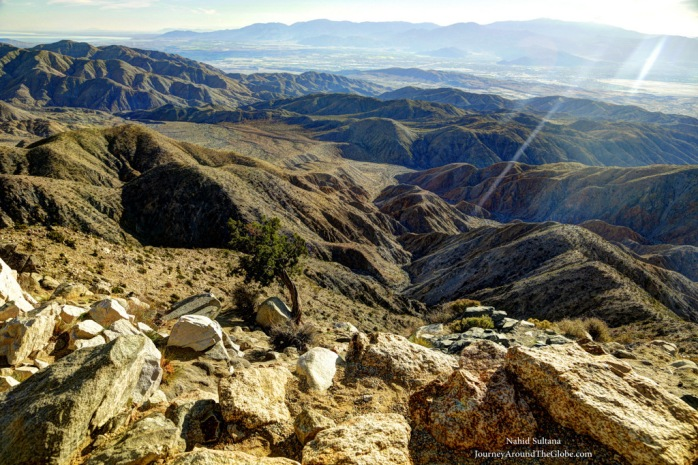 Keys View in Joshua Tree National Park, California
