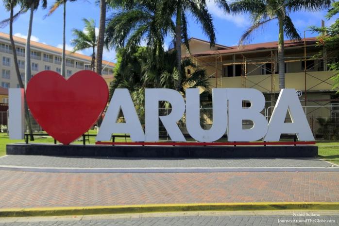 I Love Aruba in Oranjestad, Aruba