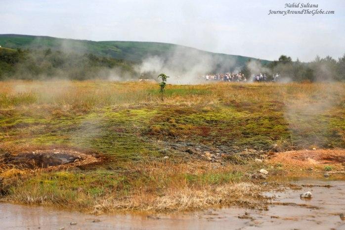 """Steamy """"Geysir"""" in Iceland"""