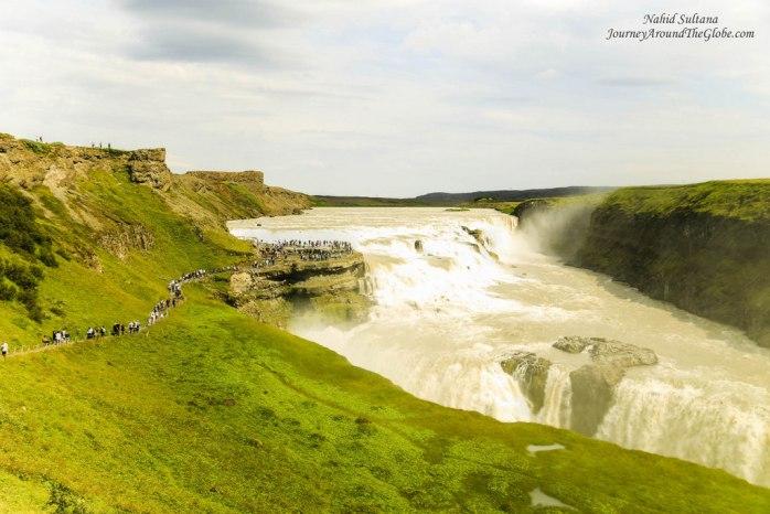 Gullfoss or The Golden Falls in Iceland
