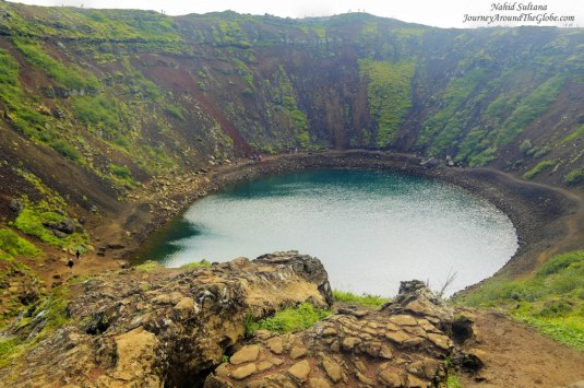 Kerid Volcano Crater Lake in Iceland